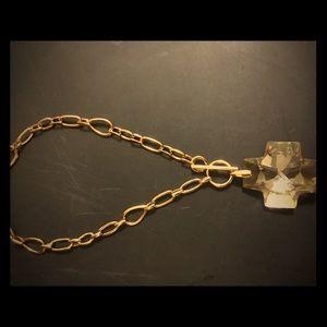 Swarovski gold crystal necklace.